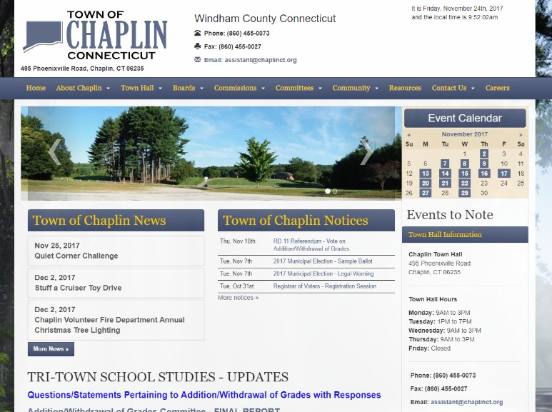 Town of Chaplin, CT Image